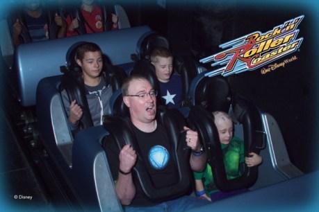 M, C, & J on Rock'n'Roller Coaster
