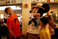 Mickey and Caleb goofing around at Tusker House