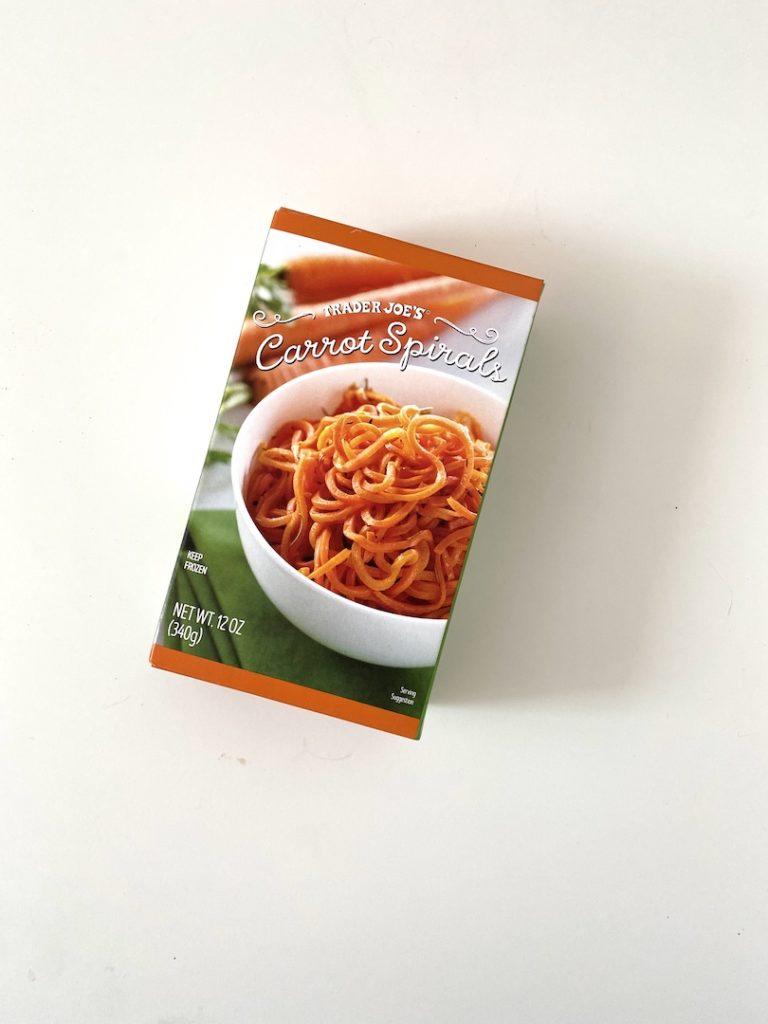 Favorite healthy Trader Joe's freezer items for quick meals: Carrot Spirals / Five Plates blog