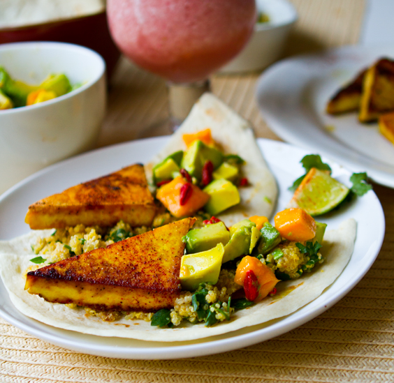 Healthy dinner meal plan: Vegan Citrus Superfood Tacos from Healthy Happy Life