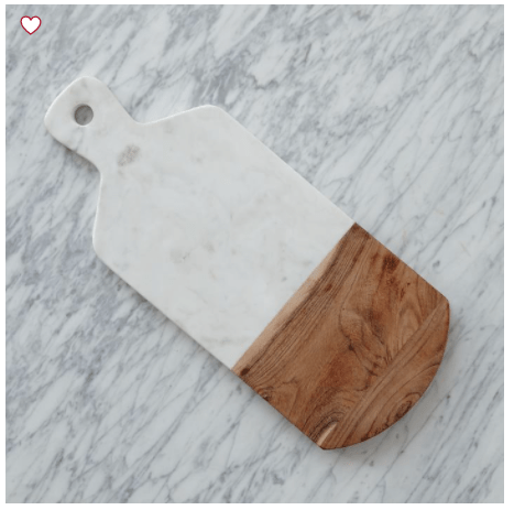 Wellness Gift Guide: marble and wood cheese board