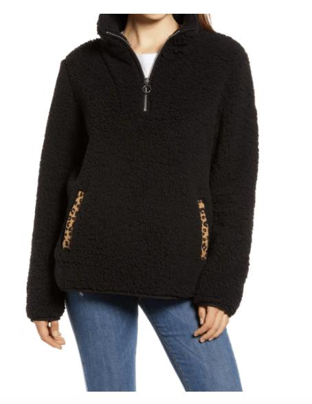 Wellness Gift Guide: Cozy black fleece pullover