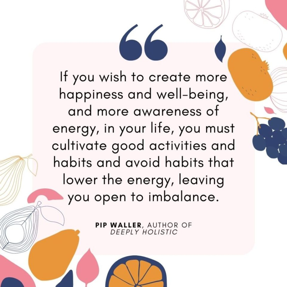 AFPA Holistic Nutritionist Certification journey: quote from Deeply Holistic by Pip Waller
