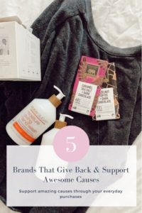 5 brands that give back & support amazing causes through your everyday purchases. www.fiveplates.com