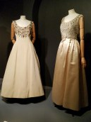 Christian Dior (left), fall 1957; Yves Saint Laurent for Christian Dior (right), spring 1958