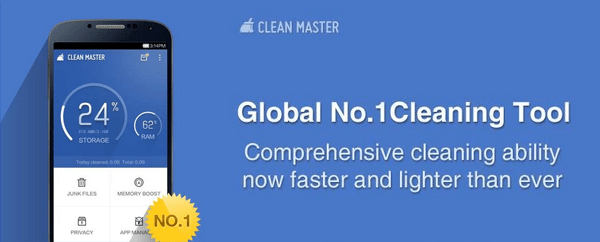 Clean junk files with ease - Clean Master Free Android App