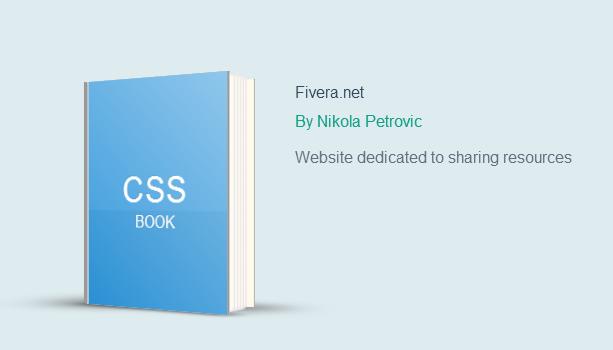 CSS Book made using 3D Transform