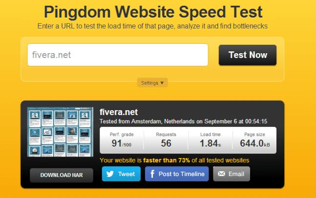 pingdom online tool