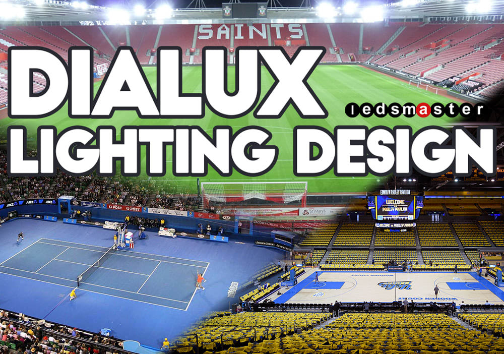 use dialux lighting design and