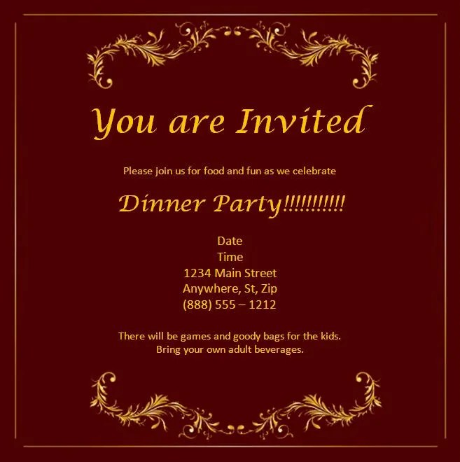 design invitation card for your party