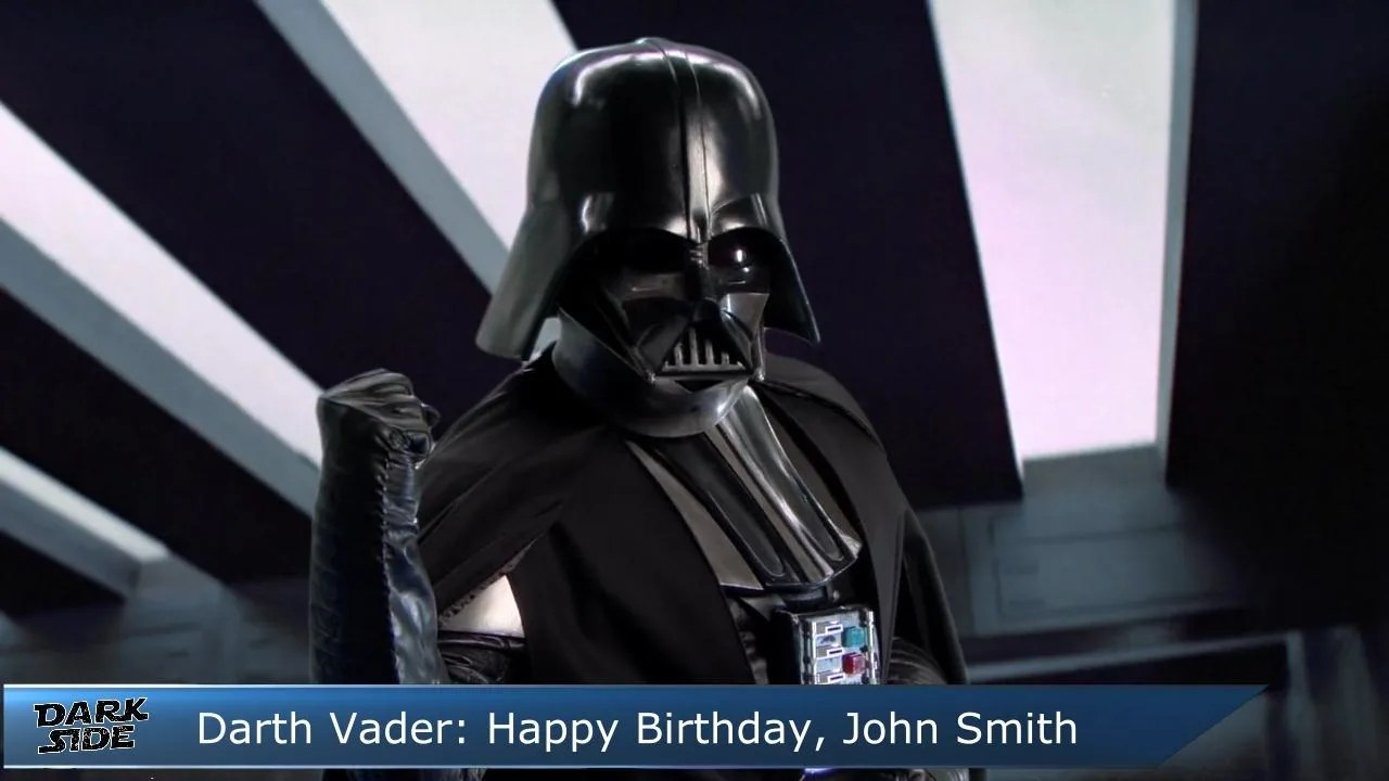 Wish A Happy Birthday From Darth Vader From Star Wars By Valtermedia Fiverr