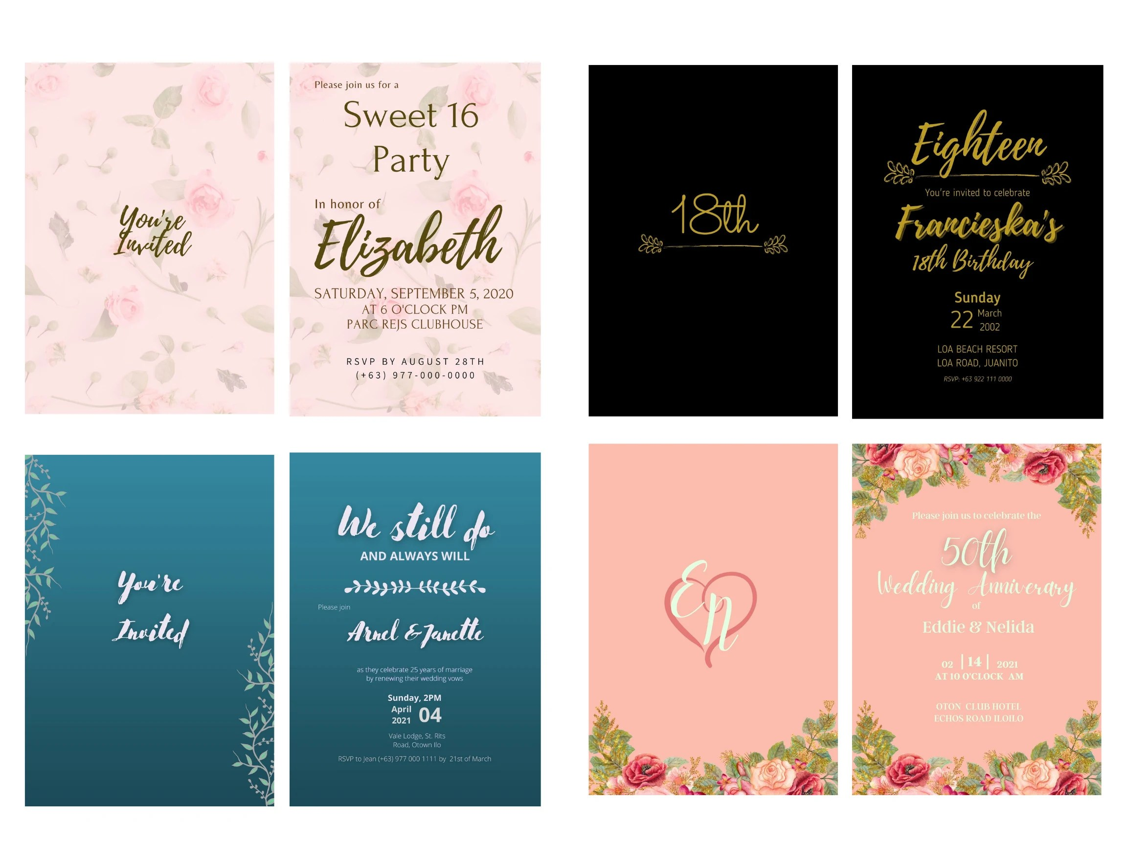 design a stunning birthday and anniversary invitation card