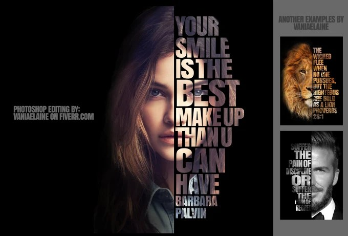 turn your photo into cool powerful text typography poster