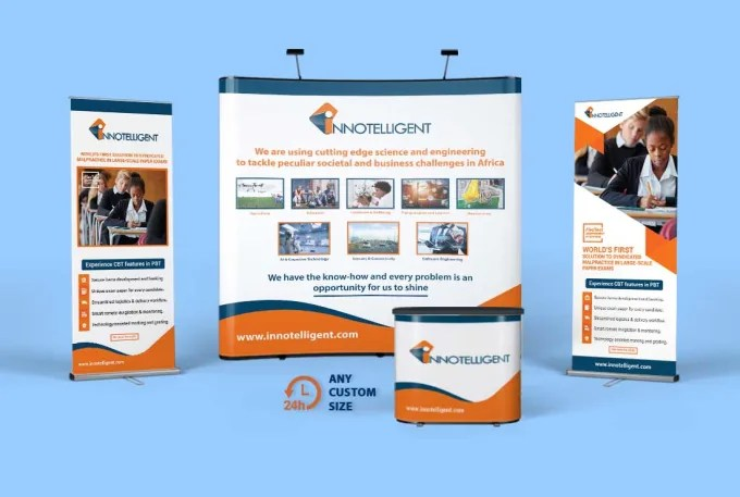 design roll up retractable banner and