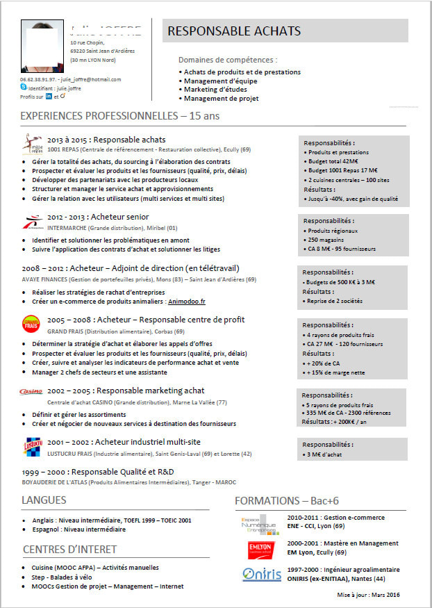 Provide You With A Customized Modern One Page Cv By Khalilnaffeti Fiverr