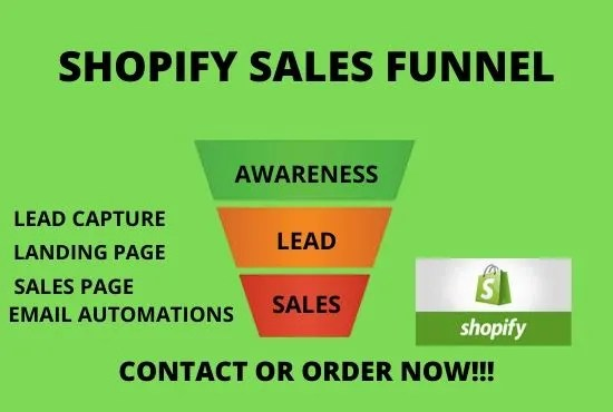 build shopify sales funnel, complete sales funnel in clickfunnel