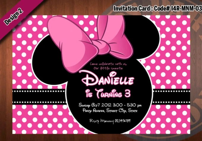Personalize A Printable Minnie Mouse Birthday Invitation By Ezws727 Fiverr
