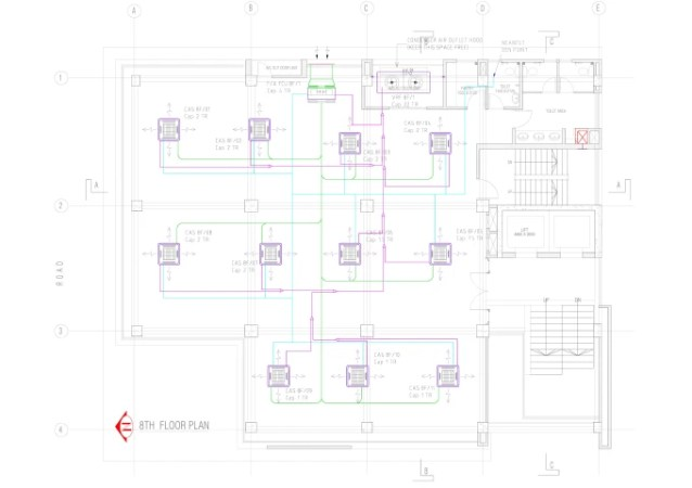 Draw any hvac system layout drawing for autocad 2d by Mahabubur8407 draw any hvac system layout drawing for autocad 2d