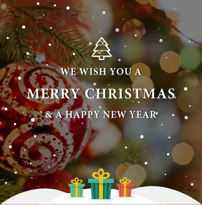 Build Email Template Of Merry Christmas