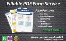 Convert Files   Convert to a Fillable Form   Fiverr create fillable pdf form or design your pdf form
