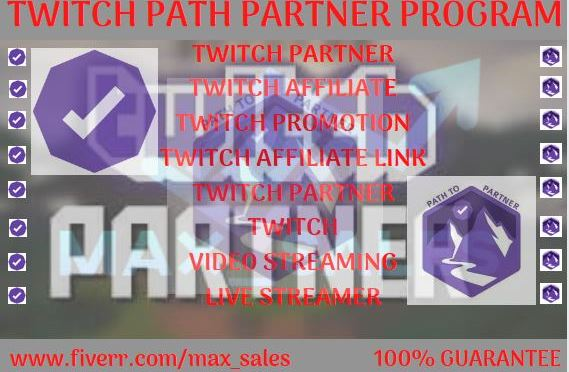 I will do an awesome and organic promotion for your twitch channel, get you to partner