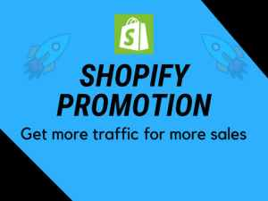 I will do shopify marketing, affiliate link redbubble or etsy promotion, FiverrBox