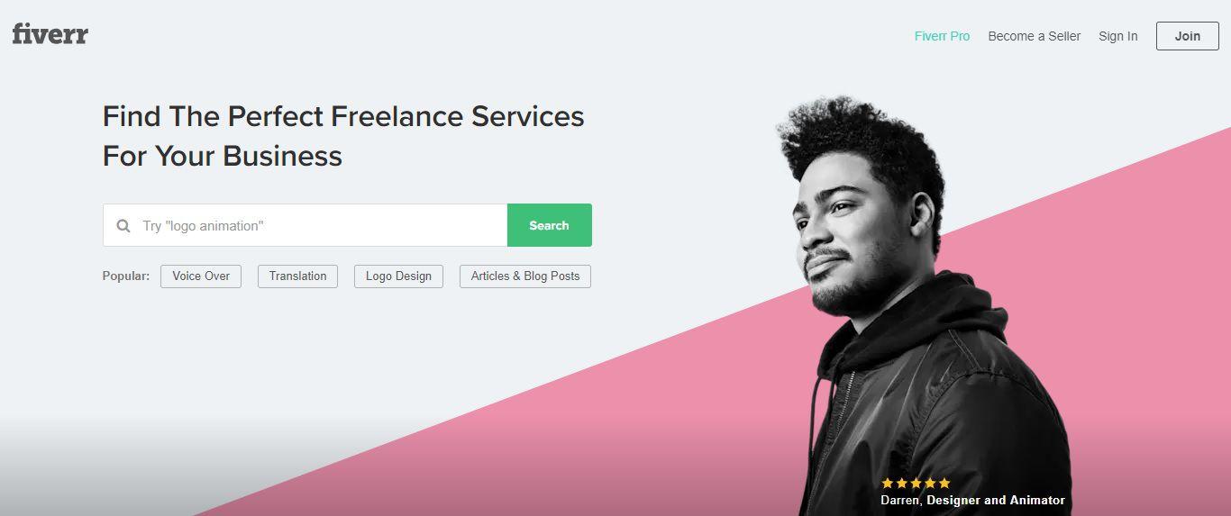 Làm việc tự do và kiếm tiền với Fiverr 1
