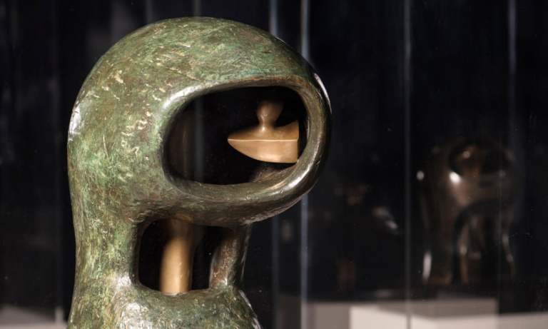 Henry Moore's helmet heads go on display together for first time