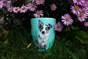 I Hand Paint Your Beloved Pets Into Magical Nature Scenes On Mugs