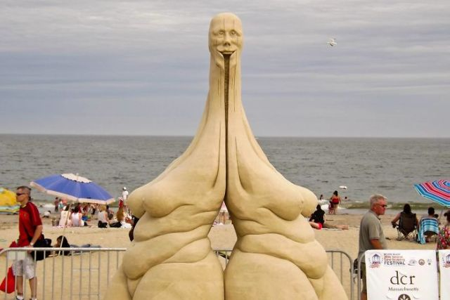 Officially The Creepiest Sand Sculpture At Revere Beach This Weekend