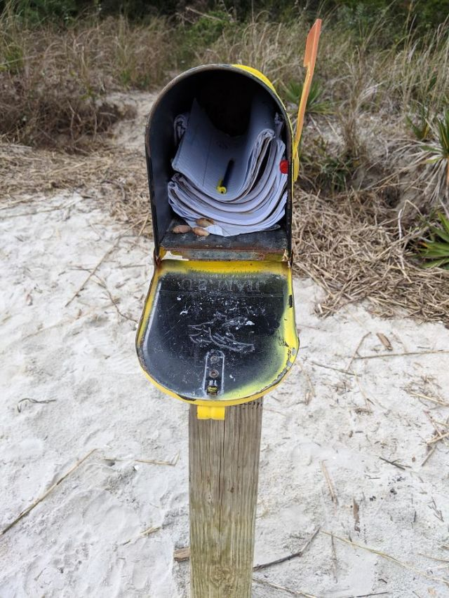 This Mailbox On A Beach Where I Live Filled With Notebooks That People Walking The Beach Write Thoughts In