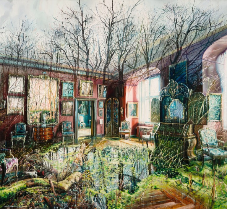 Dreamy Paintings by Jacob Brostrup Layer Interior and Exterior Scenes into Surreal Composites