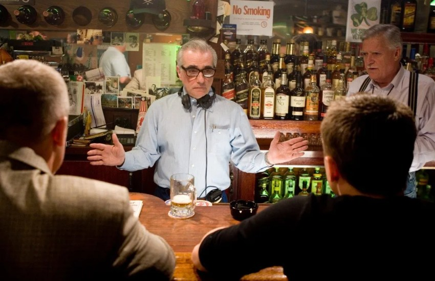 """This promotional photo provided by Warner Bros. shows director Martin Scorsese working with actor Leonardo DiCaprio, right, on the set of """"The Departed.""""   Scorsese was nominated Tuesday, Jan. 23, 2007, for best director as the nominations for the 79th annual Academy Awards were announced in Beverly Hills, Calif.  (AP Photo/Warner Bros. Entertainment, Andrew Cooper)"""