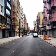 The LES feels deserted.