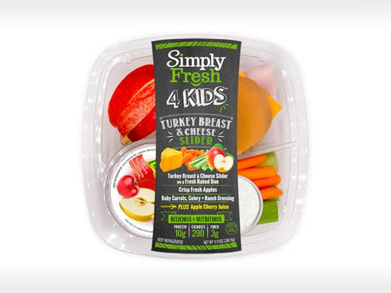 Kid's Meal<br>Turkey Breast & Cheese Slider