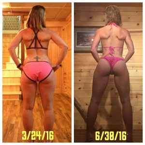 Stacey's body completely changed during the course of this prep for her debut bikini show