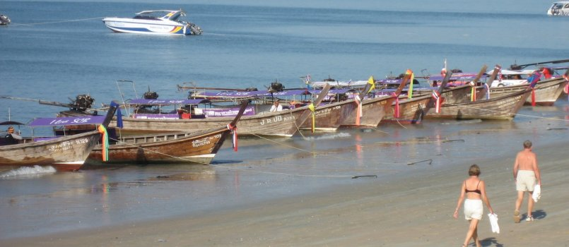 Krabi-Thailand-Ao Nang-Phi Phi-beach-longtail-boats-massage-