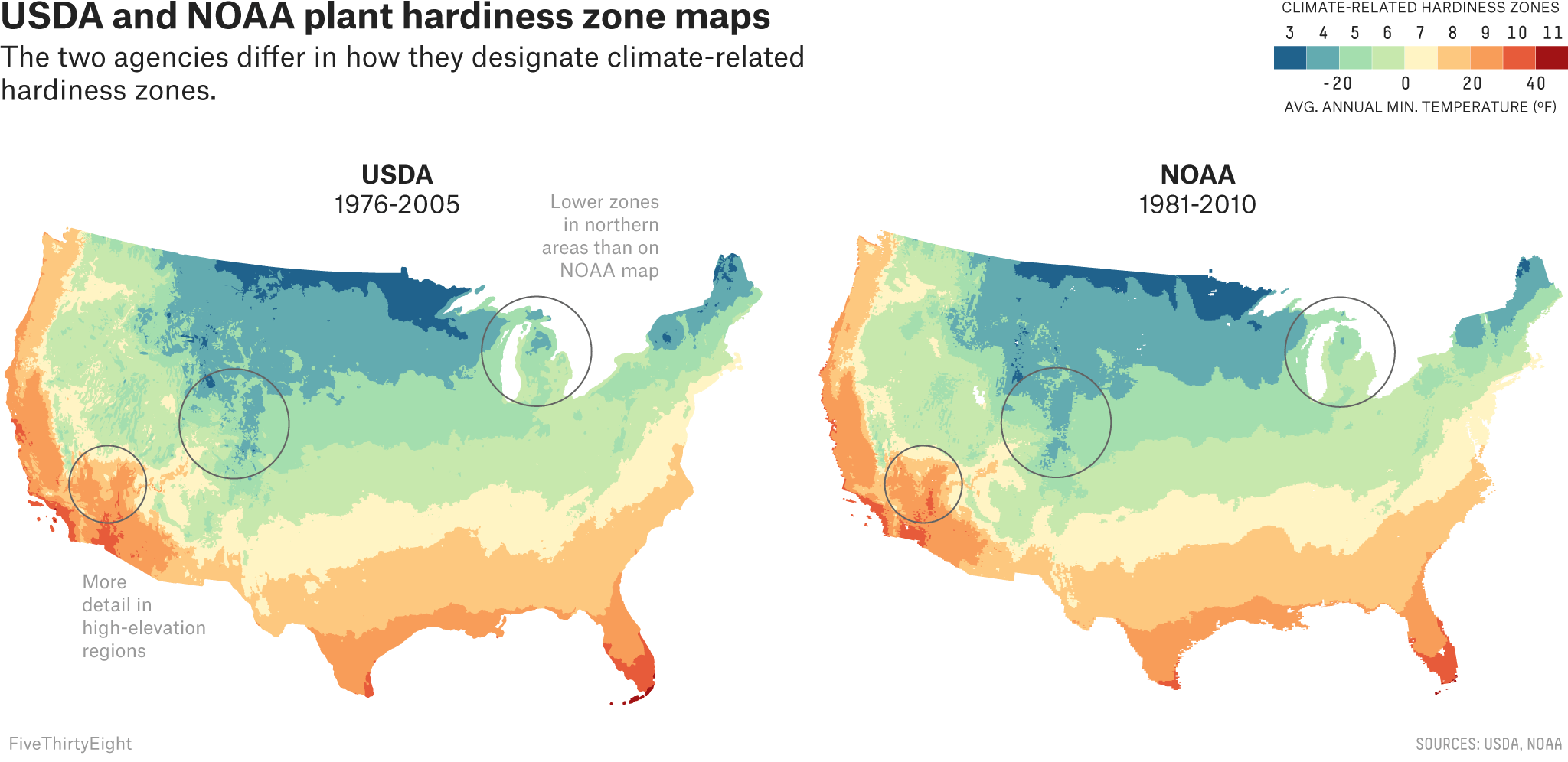 Two Government Agencies Two Different Climate Maps