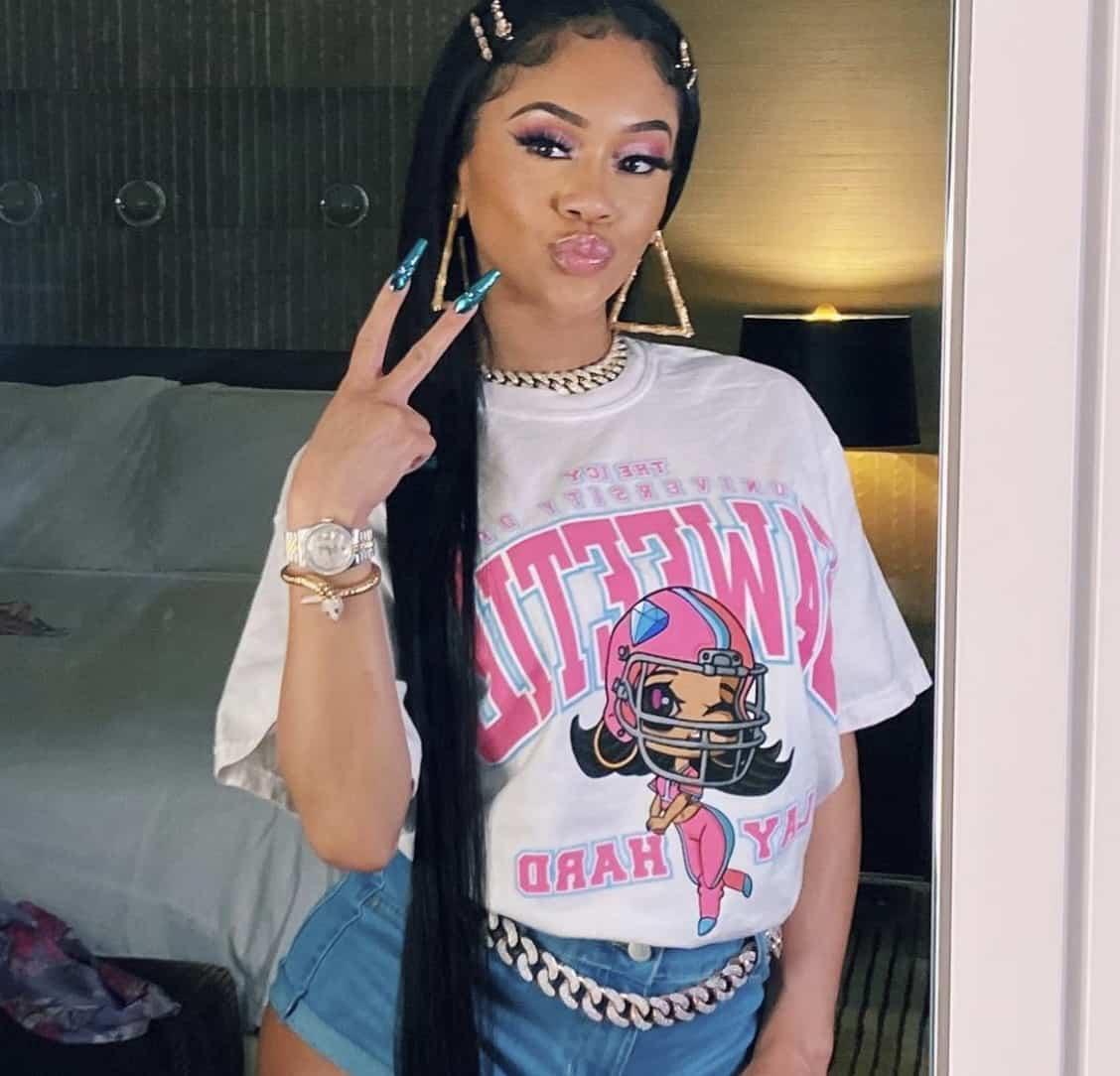 Saweetie Pays For Custom Gear After A Fan Tried To Gift It To Her In Houston!