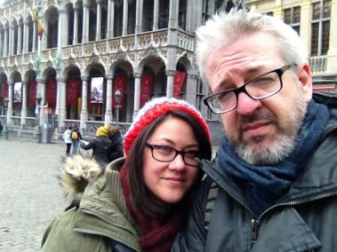 We took the train from the airport to Central Brussels and walked into Grand-Place