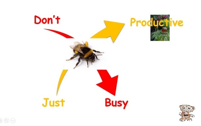 Busy versus productive