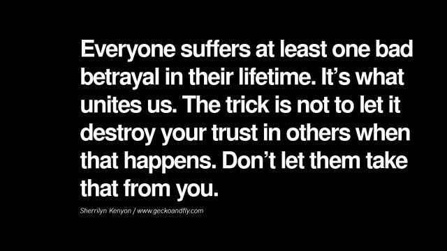 betrayal, advice