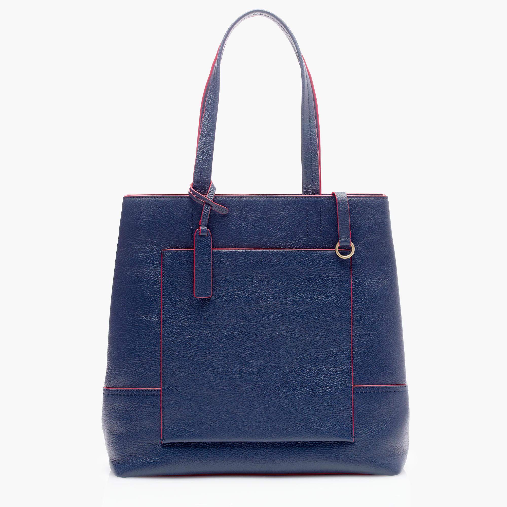 J.Crew All-Day Tote in Italian Leather, Vintage Indigo