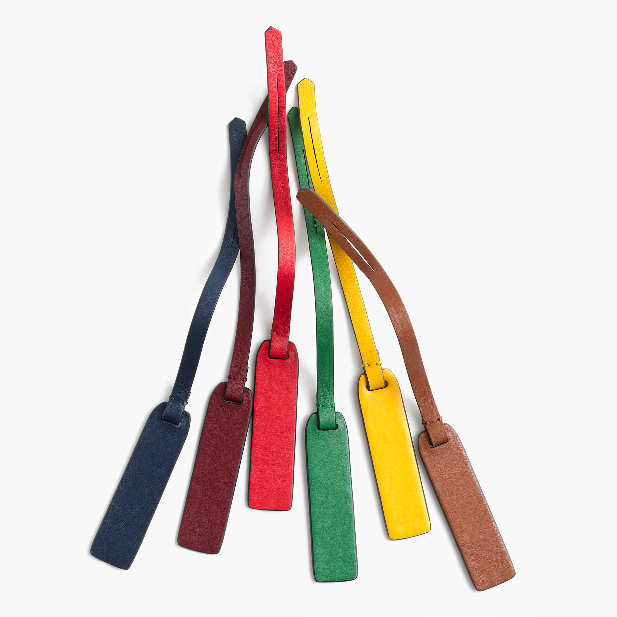 J.Crew Customizable Bag Tags in Italian Leather