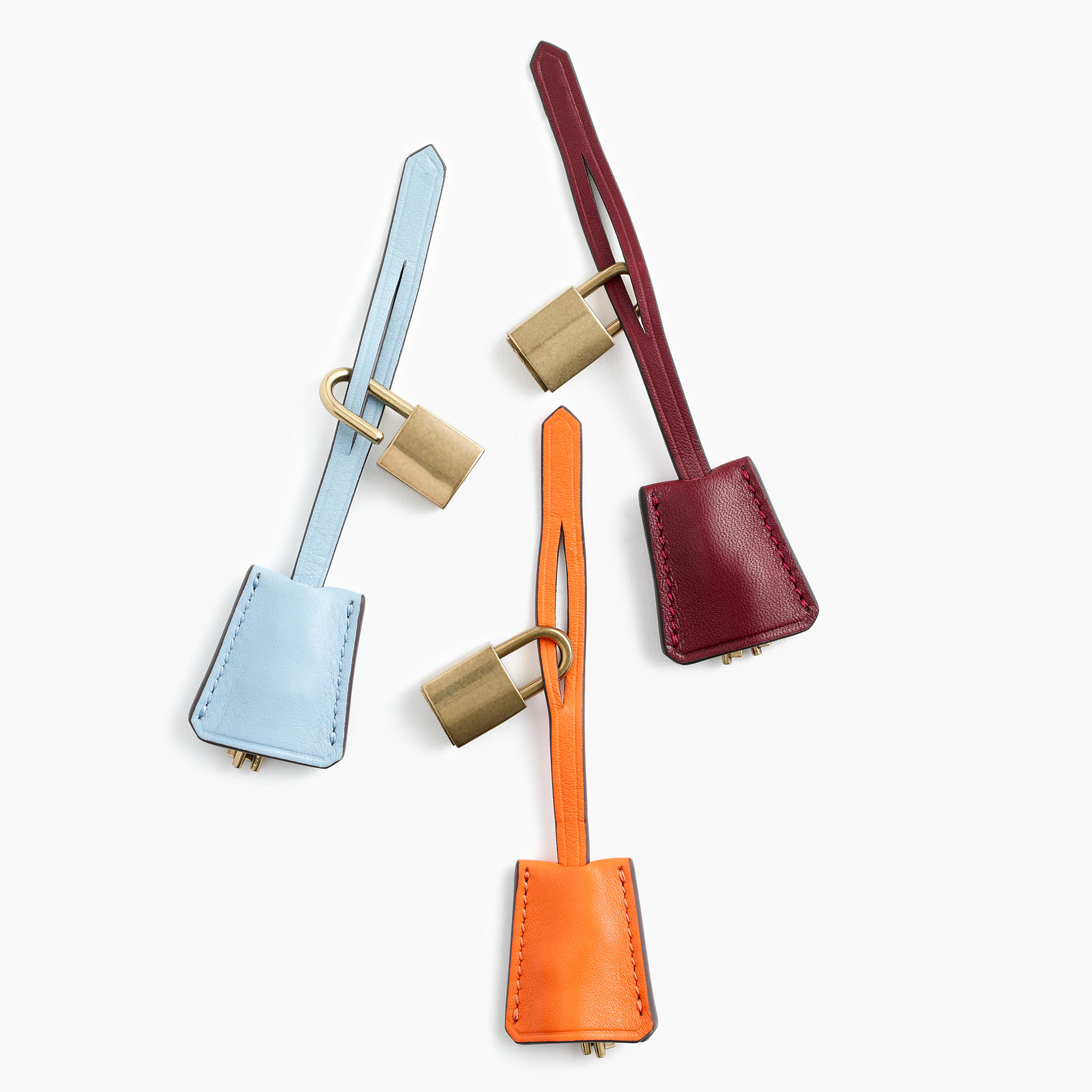 J.Crew Customizable Key Fobs in Italian Leather