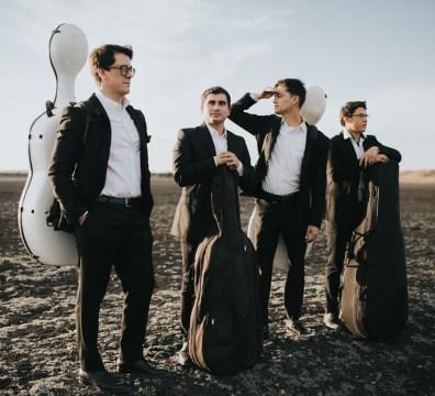 Retrato de los integrantes del Cuarteto de violoncello Piatti
