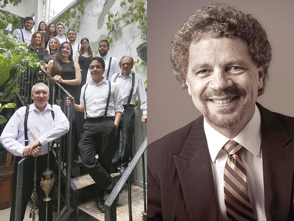 Se muestran a los integrantes de la Orquesta de Cámara de León y al violoncellista Álvaro Bitrán