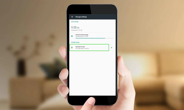 إعدادات الذاكرة على أندرويد storage settings android