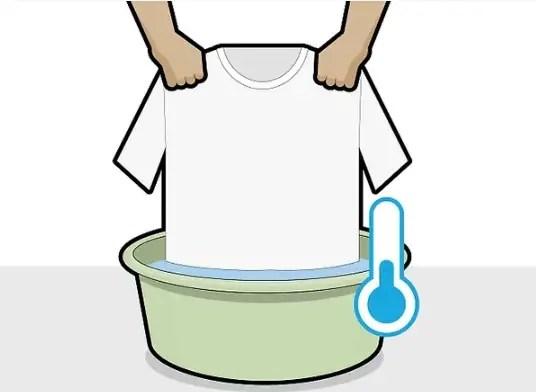 شطف الملابس بالماء البارد