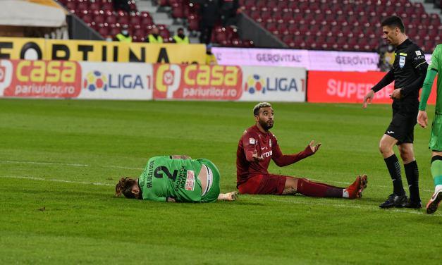 Un singur gol a decis în Gruia! CFR Cluj o bate la limită pe Dinamo